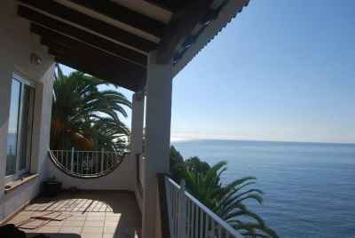 3 story house with large terraces on the first sea line near Lloret de Mar